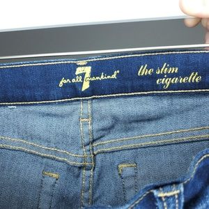 7 For All Mankind Jeans - 7FOMK The Slim Cigarette Womens Size 27 Jeans